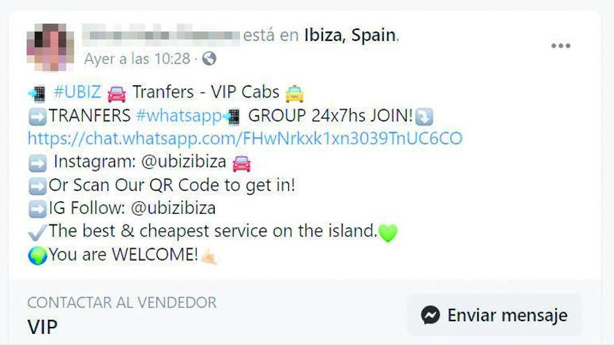 Detectados 59 vehículos de pasajeros VTC de otras comunidades operando en Ibiza