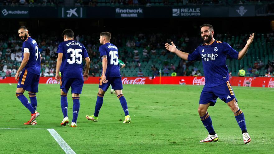 El Madrid resiste y gana al Betis a domicilio
