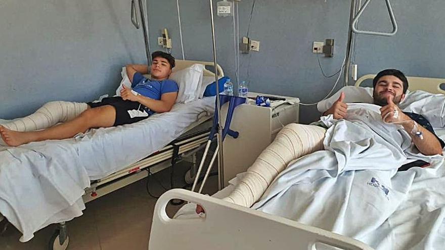 Juntos en el campo y en la habitación de hospital