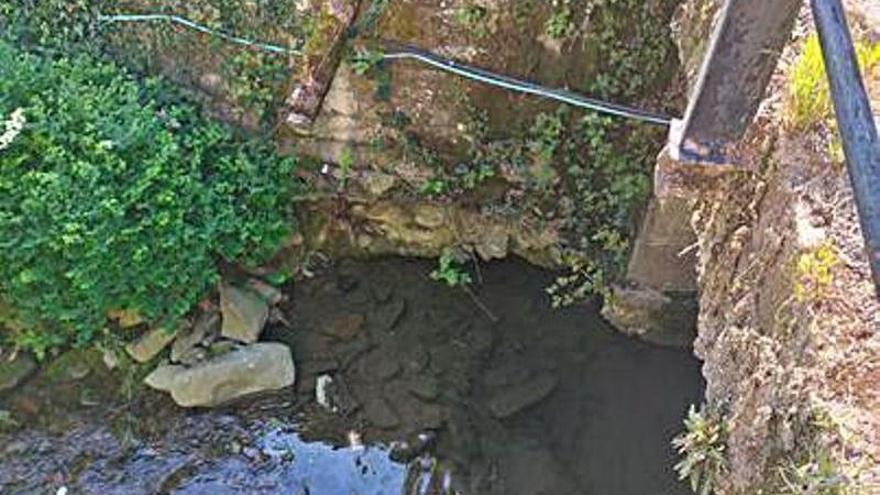 Inquietud por el estado de los cimientos de un puente en Cabañaquinta