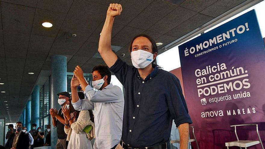 """Iglesias pide """"otra oportunidad"""" para emular en Galicia las políticas sociales del Gobierno"""