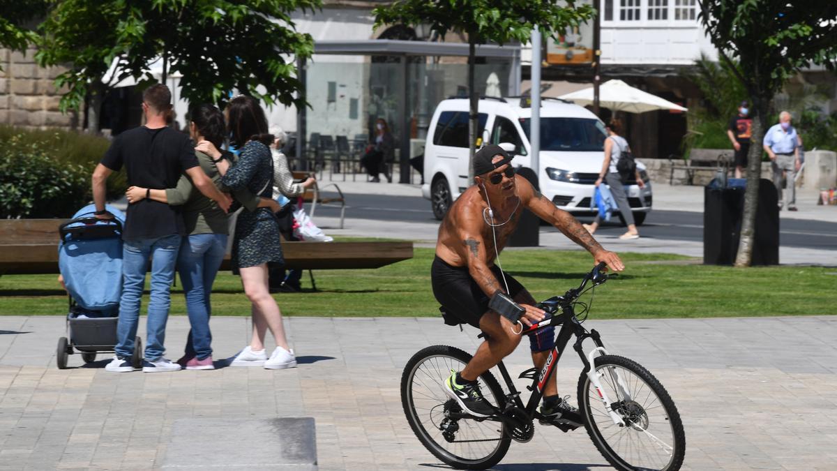 Jornada soleada en A Coruña.