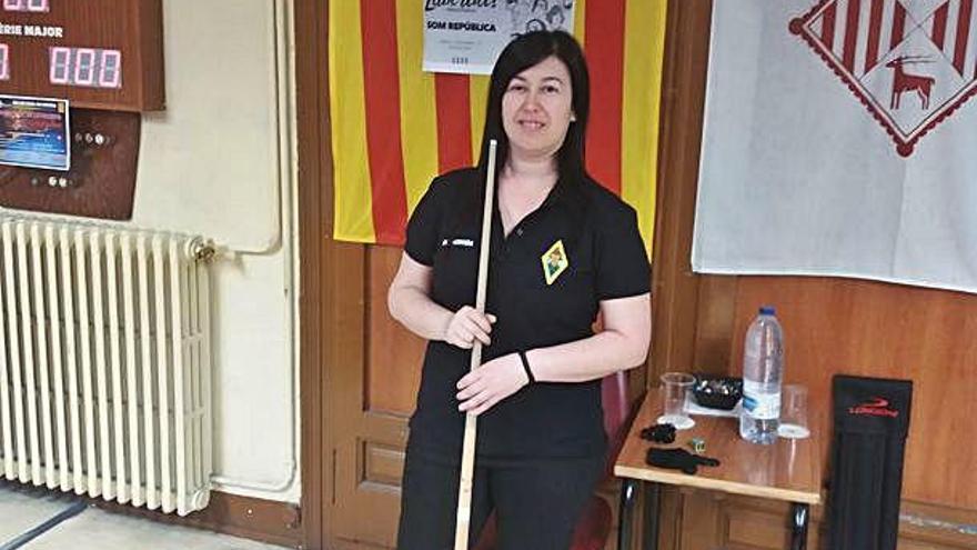 Eva Hermida, jugadora del CB Manresa, participa a l'estatal a tres bandes