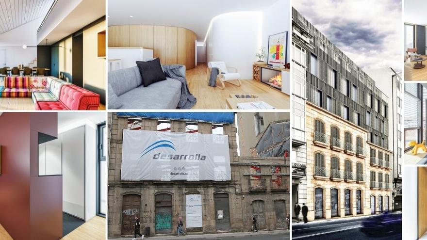 Reforma contemporánea de dos edificios de 1890: así quedará Progreso 57-59