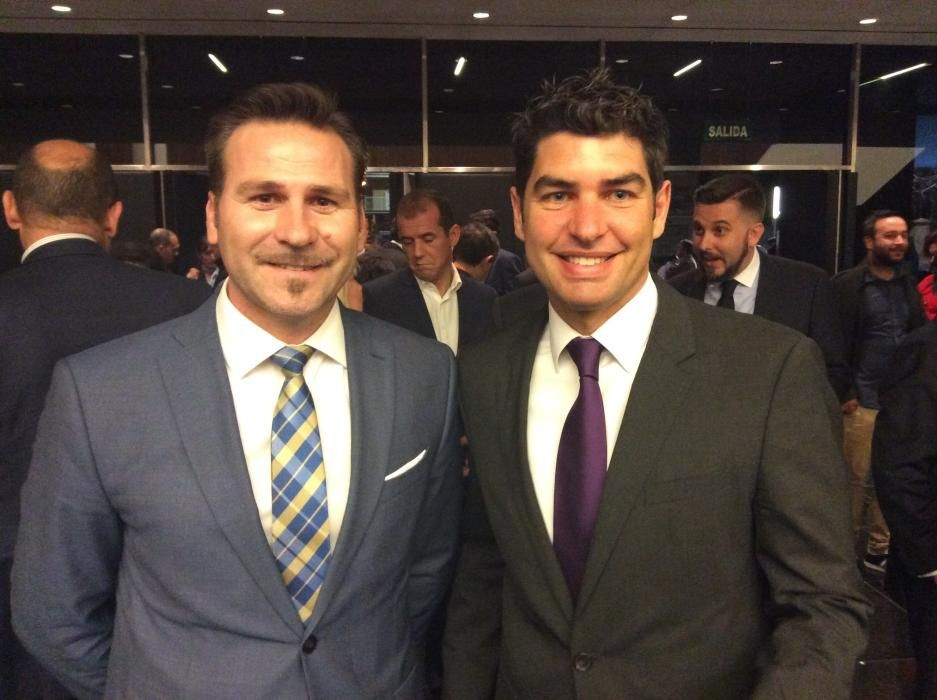 Alejandro Morant, diputado del PP y Manuel Bonilla, presidente de Encuentros Now