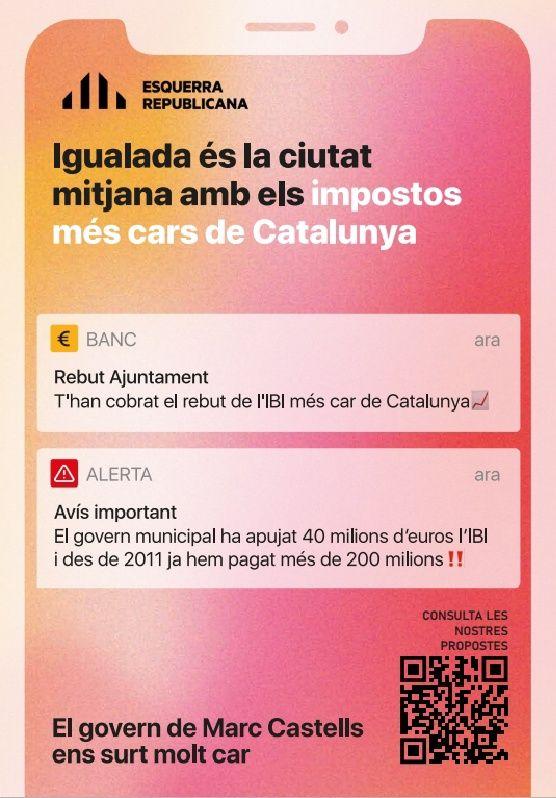 El cartell d'ERC motiu de polèmica