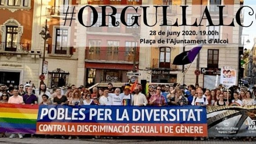 LGTBI MARIola commemora per segona edició el Dia de l'Orgull LGTBIQ+ amb una concentració a Alcoi