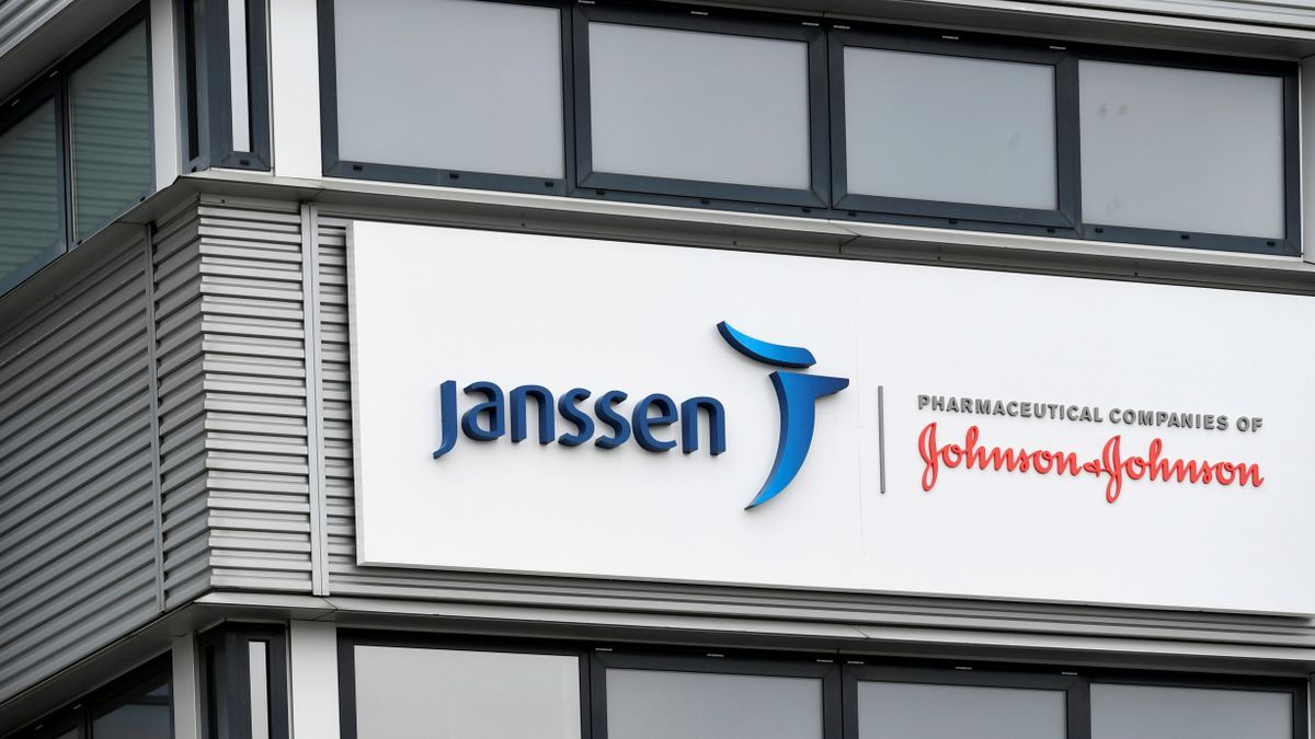 El exterior de la filial de Johnson and Johnson, Janssen Vaccines, en Leiden.