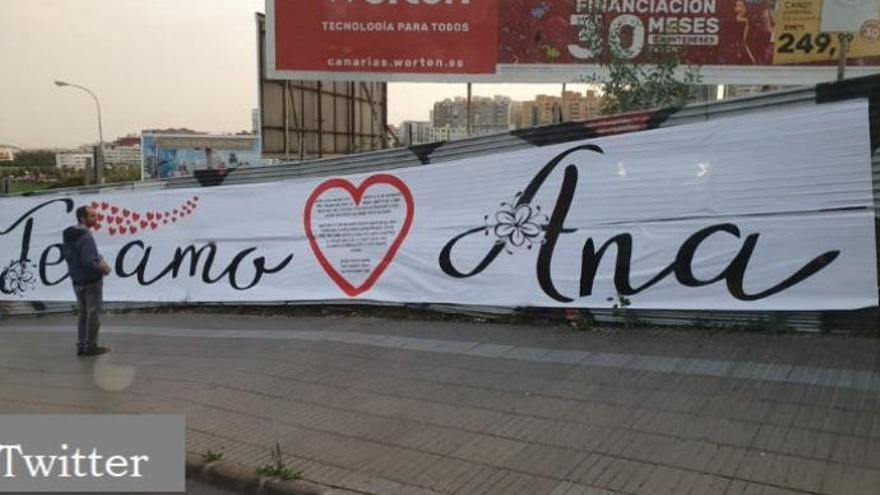 """Cuando San Valentín se te va de las manos: Un kilométrico """"Te amo Ana"""" en una rotonda de Canarias"""