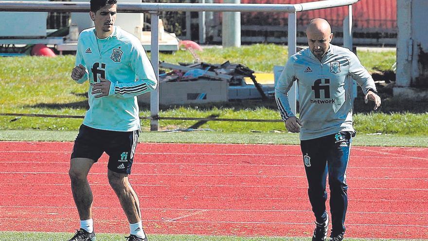 Gerard Moreno entrena al margen y no jugará contra Grecia