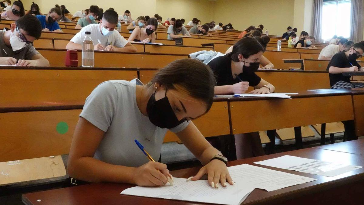 Examen de la Selectividad de este año en Málaga.
