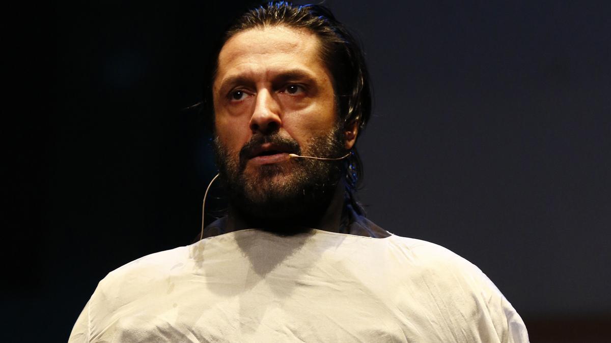 Rafael Amargo en una representación de 'Yerma'