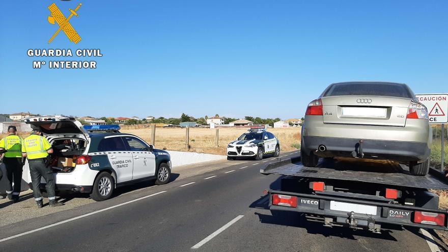 Detenido tras huir drogado, ebrio y a toda velocidad en la carretera de Trassierra