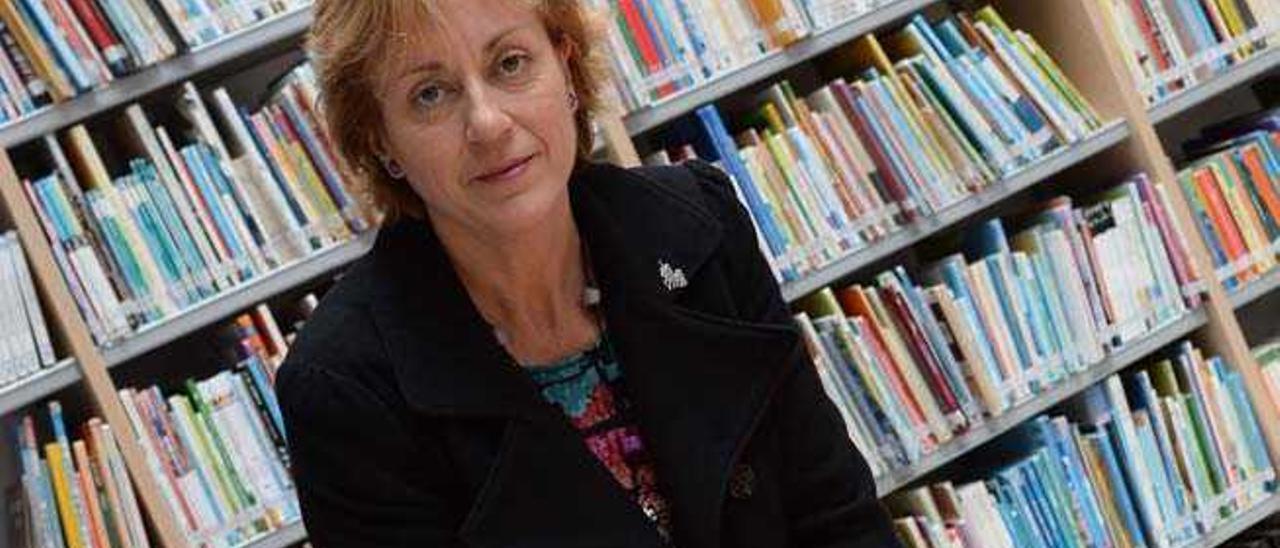 Loly León Donate, en la Biblioteca del Centro Cultural de Arucas.