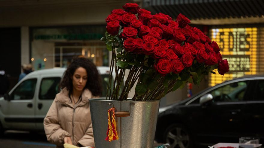 Rosas a domicilio o virtuales, las alternativas para un Sant Jordi de mínimos