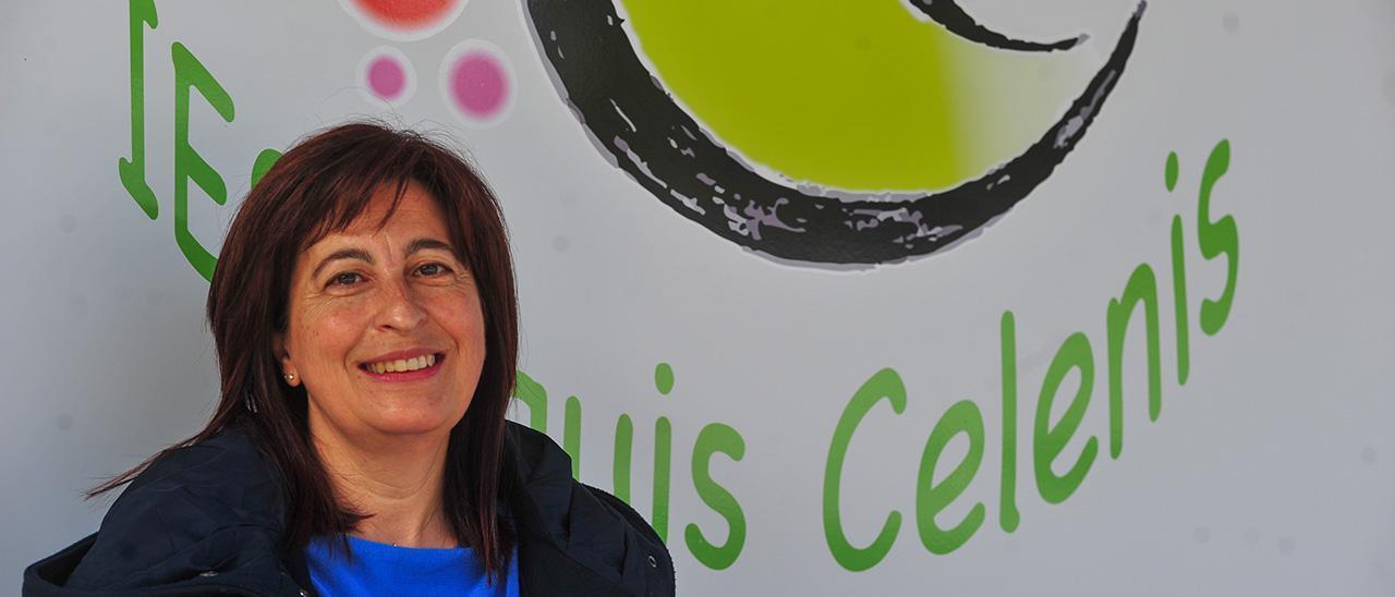 Rexina Ortigueira no IES Aquis Celenis de Caldas de Reis.