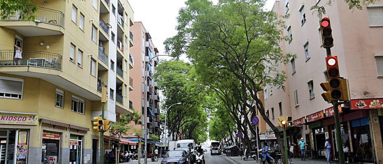 La calle Indalecio Prieto, en Son Gotleu. | GUILLEM BOSCH