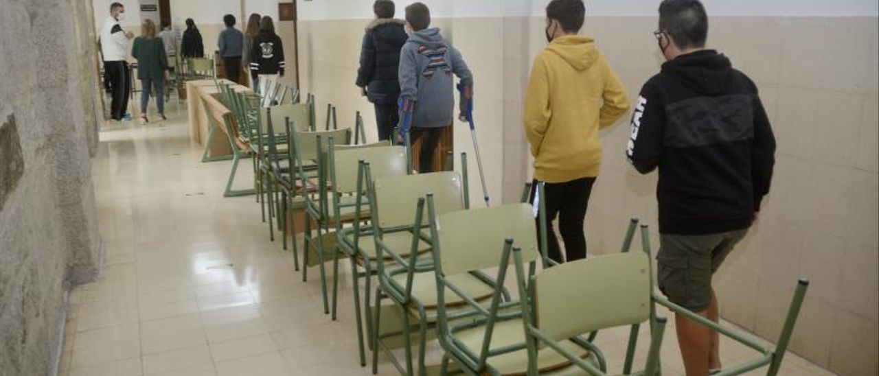 Escolares en un centro educativo.