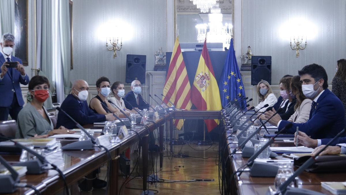 Pla general de la reunió de la Comissió Bilateral Estat-Generalitat