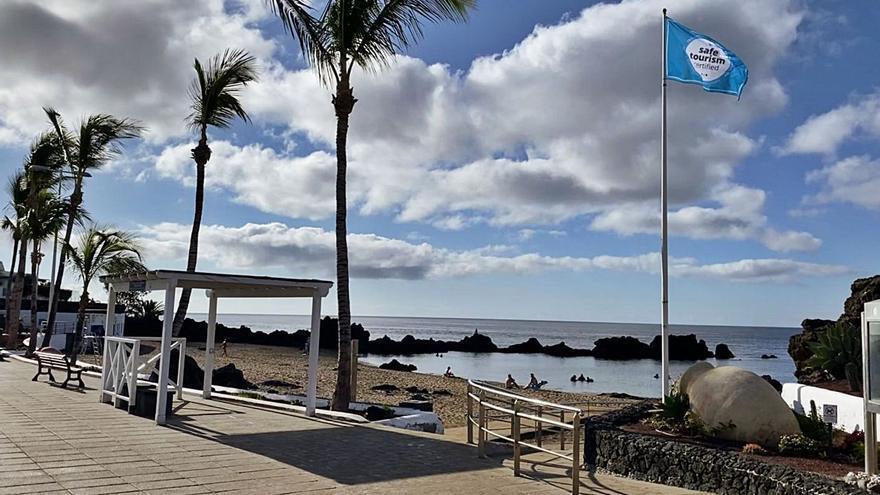Sello de seguridad en playas de Tías