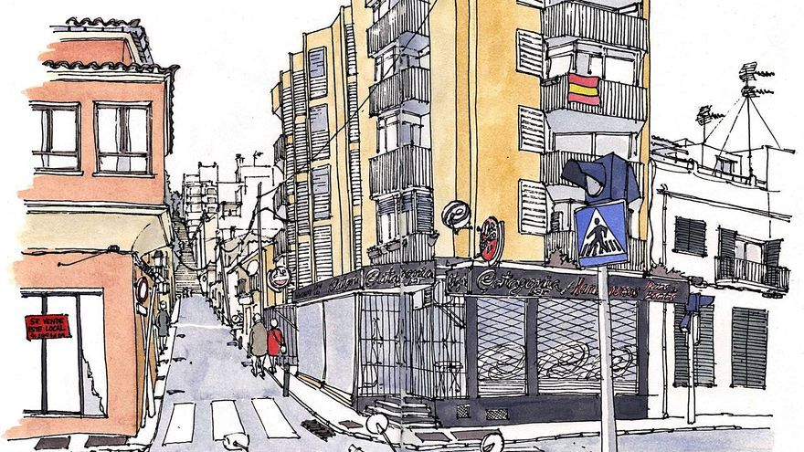 Los dibujantes reporteros retratan el cierre de Palma