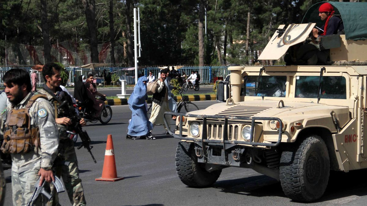 Security forces in the city of Herat.