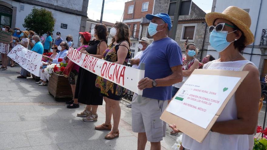 Manifestación en Sayago por la sanidad rural.