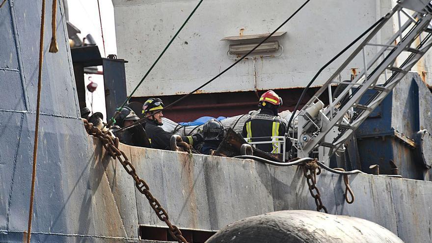 Dos marineros del 'Sveaborg' murieron al desorientarse en el buque entre el humo