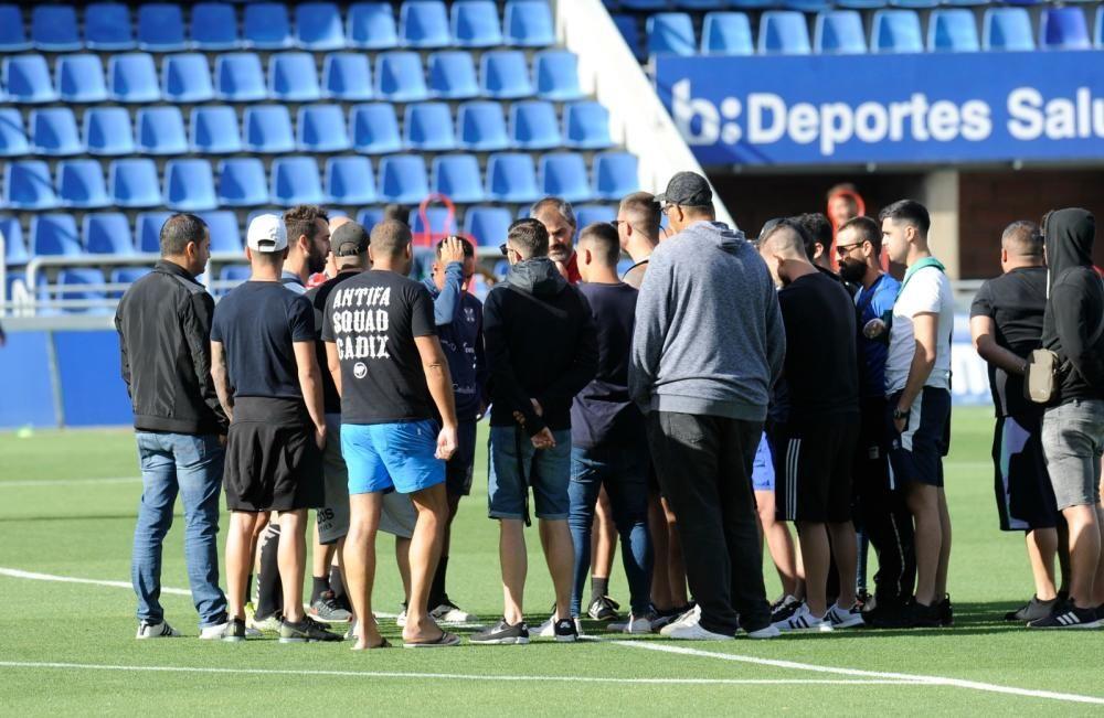 Interrumpen el entrenamiento del CD Tenerife