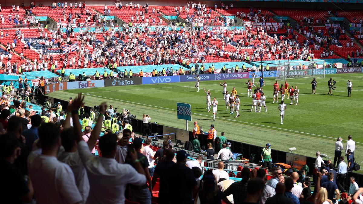 Gradas de Wembley.