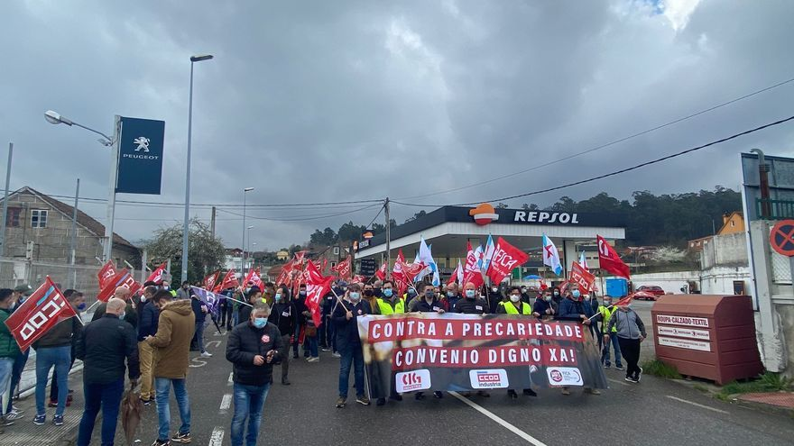 Los trabajadores del metal inician en Vigo las concentraciones por el nuevo convenio