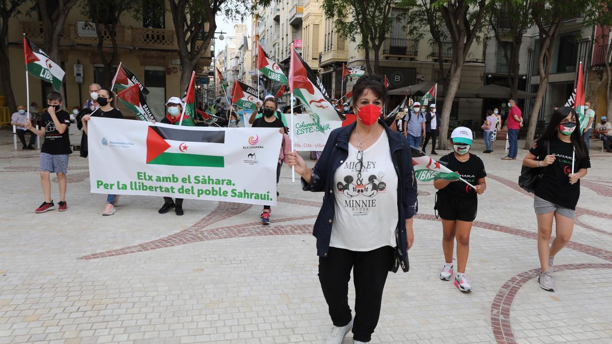 La marcha contó con la asistencia de la Asociación de Ayuda al Sáhara