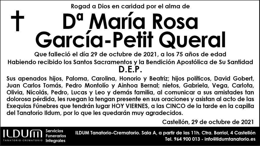 Dª María Rosa García-Petit Queral