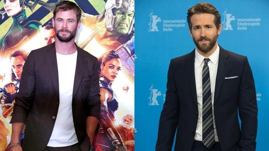 Chris Hemsworth y Ryan Reynolds, el pique más cachondo entre 'Thor' y 'Deadpool'