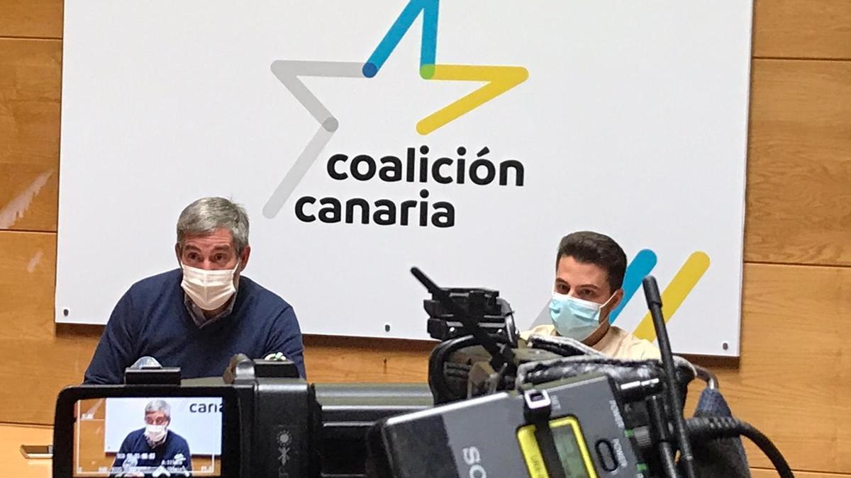 Fernando Clavijo durante la rueda de prensa