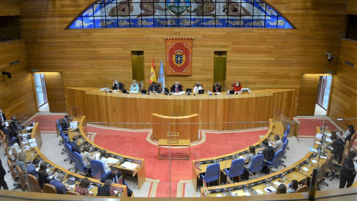 Pleno del Parlamento de Galicia.