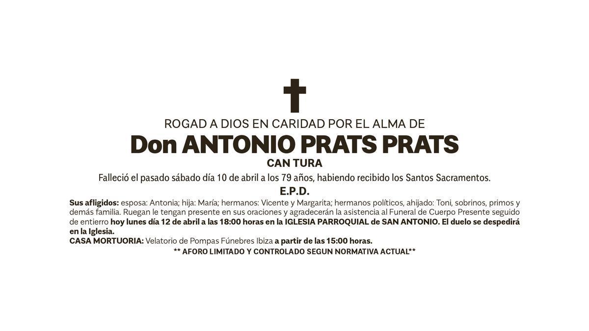 Esquela Antonio Prats Prats