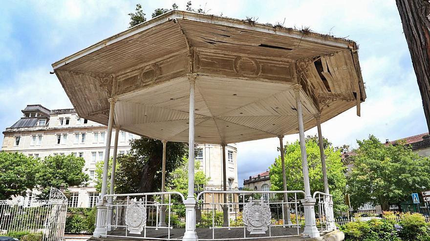 Mondariz-Balneario pondrá freno al deterioro de su centenario palco de música