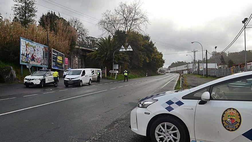 Un control de Policía Local y Guardia Civil detecta infractores de tráfico y contra las normas COVID