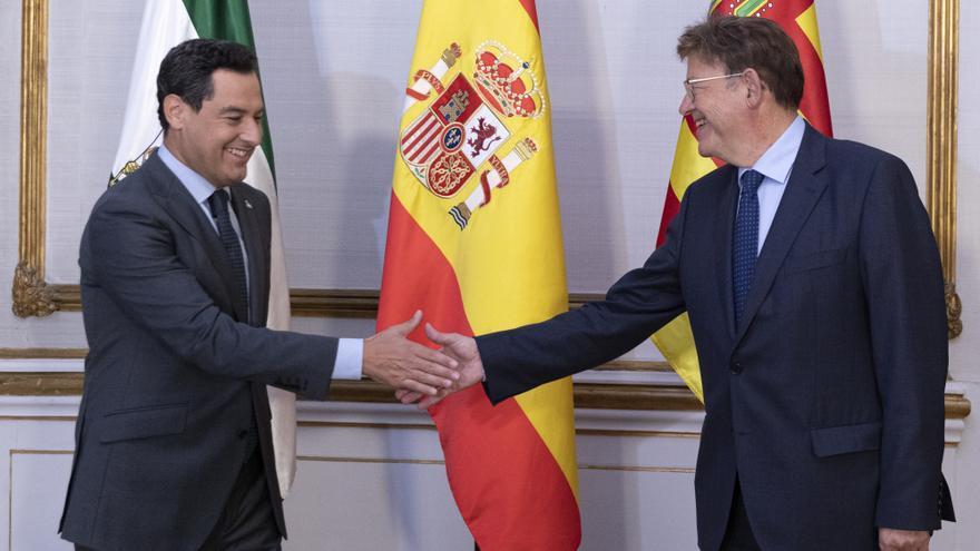 """Andalucía y Comunitat Valenciana piden un """"fondo compensatorio"""" mientras se reforma el sistema de financiación"""