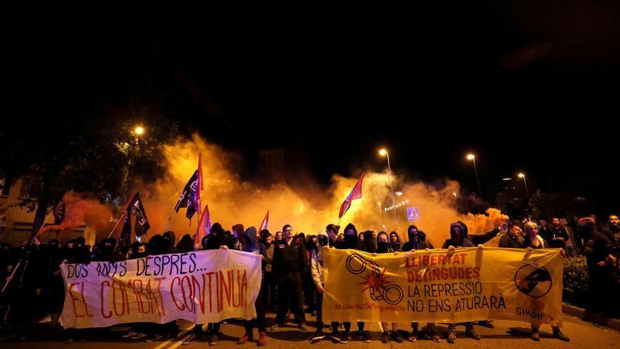 Protesta en el segundo aniversario del 1-O