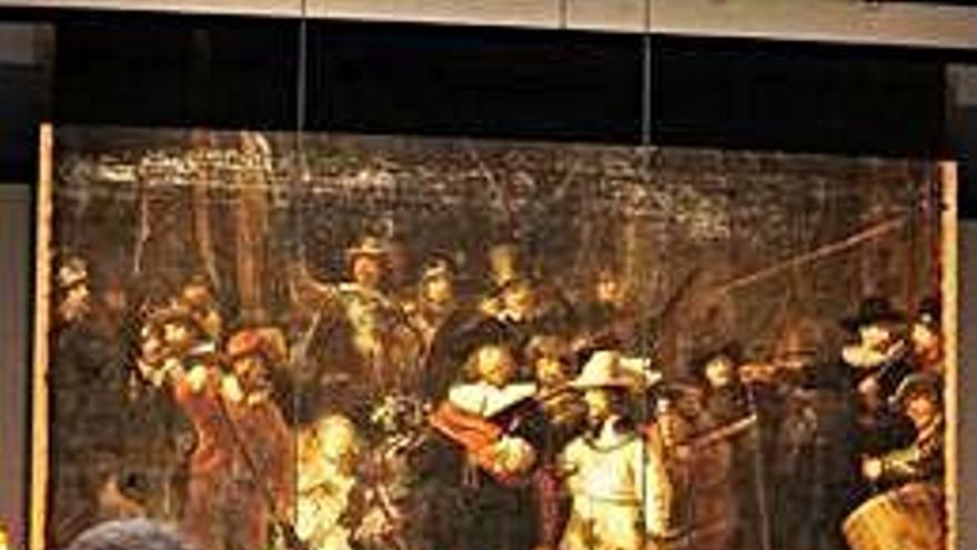 La restauración de 'La Ronda de Noche', nueva atracción turística de Ámsterdam