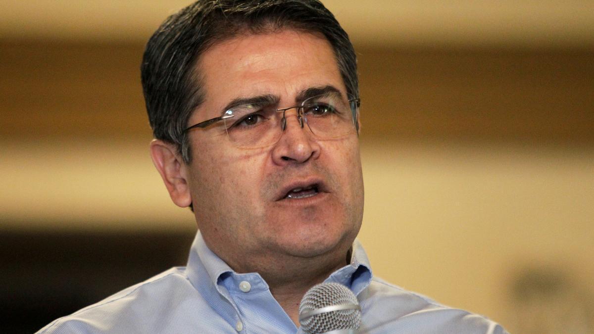 El presidente hondureño Juan Orlando Hernandez.