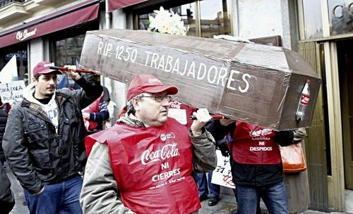 M?NDEZ Y TOXO A UNA MANIFESTACI?N DE LOS TRABAJADORES DE COCA-COLA