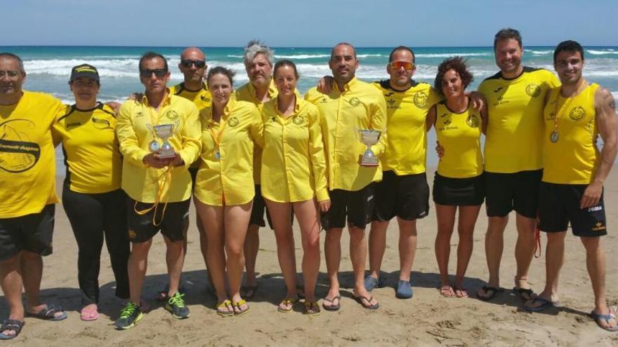 El equipo zamorano que compitió ayer en el Campeonato de Europa