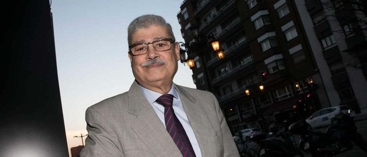 Radhamés Hernández Mejía, ayer, en Oviedo.