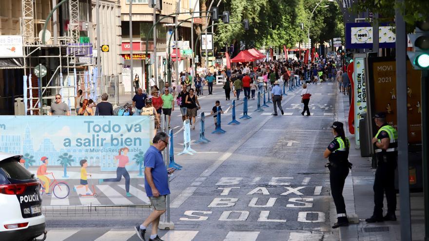 Los peatones conquistan la Gran Vía