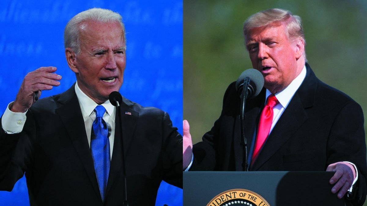 El candidat demòcrata Joe Biden i el seu rival republicà, Donald Trump