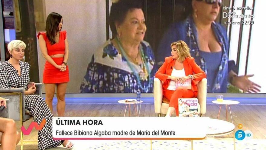 """El mensaje de Toñi Moreno a María del Monte tras la muerte de su madre: """"Necesita que la apoyemos"""""""
