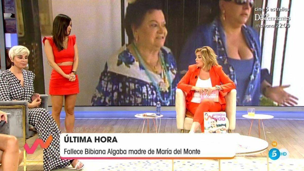 """Toñi Moreno apoya con este mensaje a María del Monte tras la muerte de su madre: """"Ella sabe que la quiero""""."""